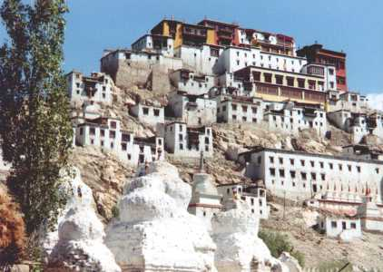 Tikse Gompa is just 3 km farther south from Shey Gompa.