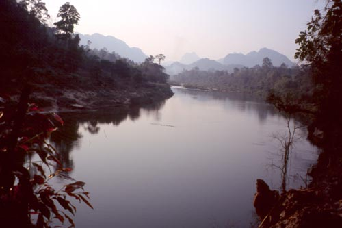 Unlike most rivers in SE Asia, this one flows north.