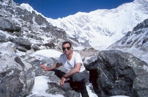 Bill trekking near the south face of Mt. Kangchenjunga
