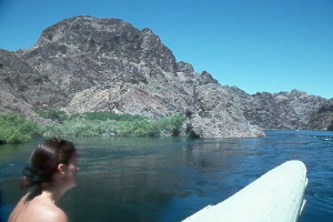 rafting through Black Canyon on the Colorado River below Hoover Dam